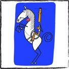 caricatura en lienzo de algodón para bastidor - Luis Santiago
