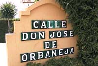 Calle Don Jose de Orbaneja Calahonda Spain.
