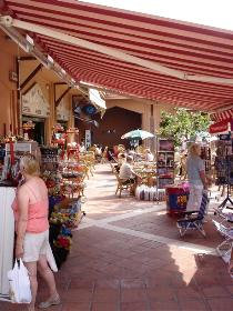 The shopping centre at Calahonda Spain.