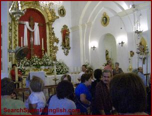 The beautifully adorned church of Benamocarra
