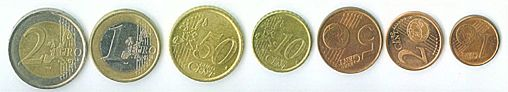 Cents of a euro - coins