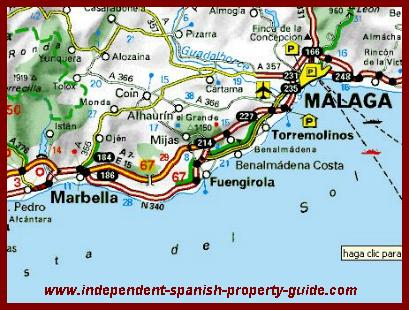 Map Of Spain Showing Costas.Considering Buying A Fuengirola Property On The Costa Del Sol In Spain