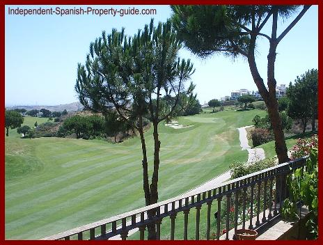 Golf property in Spain - a view from the balcony