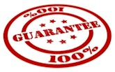 Garantia 100 % satisfacion