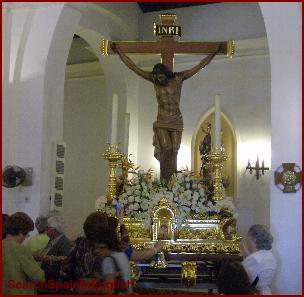 Inside the church of Benamocarra