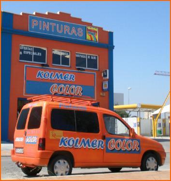 Outside of the paint shop Kolmer Color in Alhaurin de la Torre