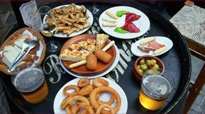Eating snacks or tapas in Spain