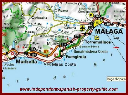 Mijas Costa Map mijas costa property