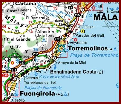 The whereabouts of Torremolinos- viamichelin map