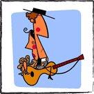Pintura humoristica en papel artístico de alto gramaje - Luis Santiago