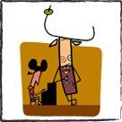 Pinturas originales - caricaturas de la vida Española por Luis Santiago