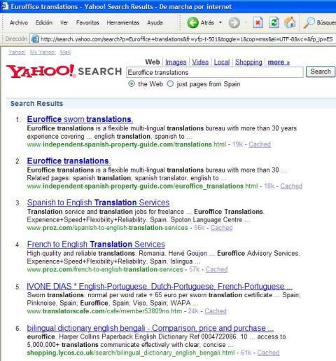 Number 1 with Yahoo.com